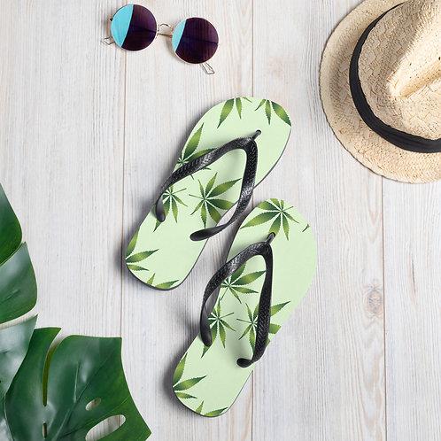 Marajuana Weed Pot Flower Beach Shoes Flip-Flops