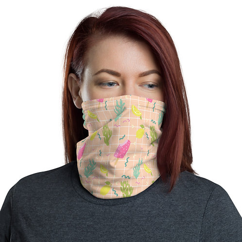 Pink Ice Cream Cone Protective Face Mask Neck gaiter