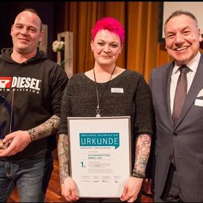 Auszeichnung mit dem Servicepreis Zollern - ALB 2018