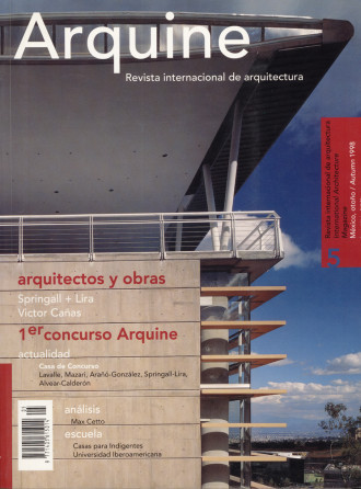 REVISTA Arquine No.5 / International Architecture Magazine  | Estados Unidos | 1998 | Arquine, International Architecture and design Magazine