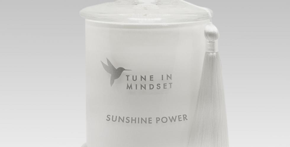 Natural wax candle SUNSHINE POWER