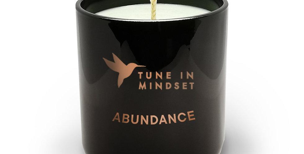 Natural wax candle ABUNDANCE