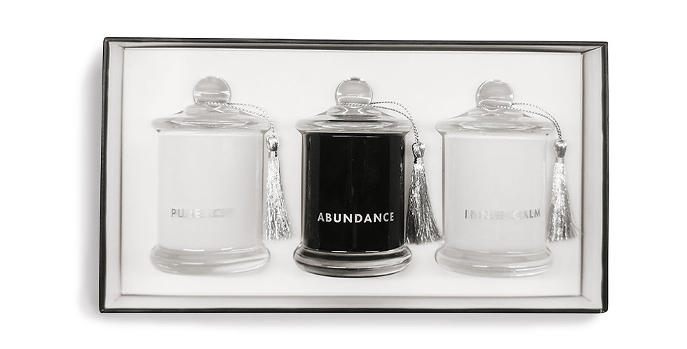 Soy wax candle trio set