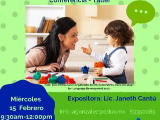Conferencia-Taller:                Desarrollando el lenguaje de mi hijo pequeño