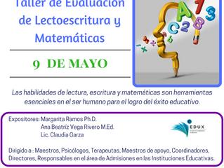 Taller de Evaluación de Lectoescritura y Matemáticas