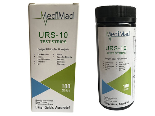 100 Urine Test Strips 10 PARAMETER Ketone Infection Liver pH Blood UTI