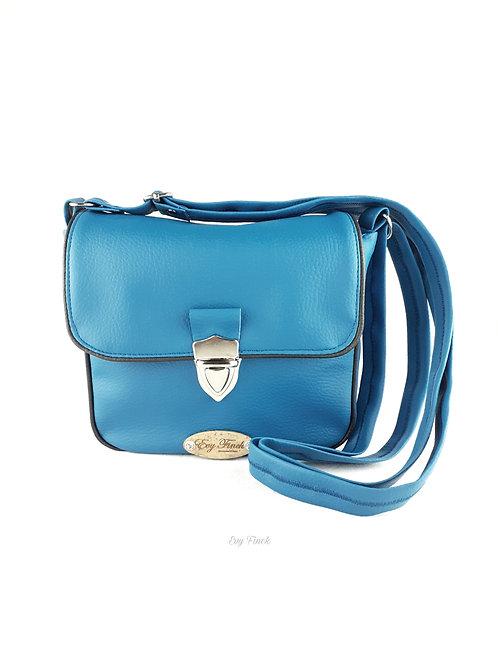 """mini sac à main """"arc en ciel"""" bleu canard"""