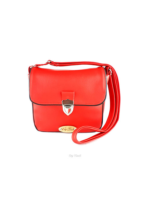 """mini sac à main bandoulière """"arc en ciel"""" rouge"""