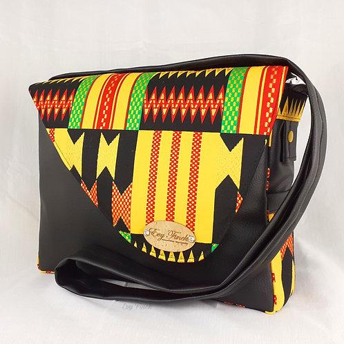 Sac à main besace wax africain