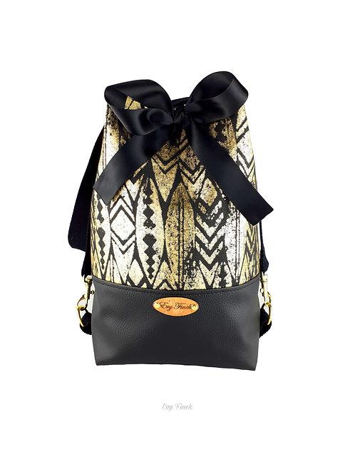 sac à main noir/doré ethnique