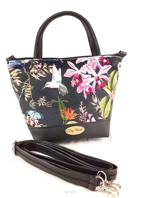 sac à main feuillage tropical