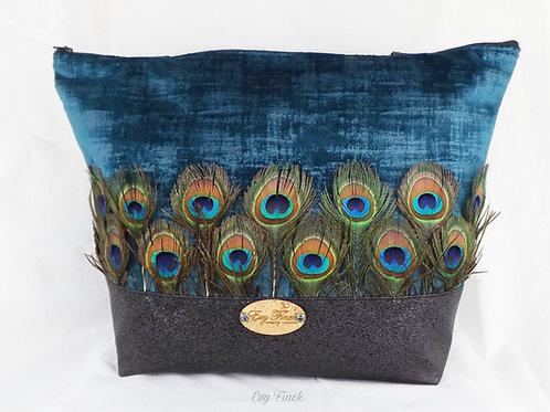 sac cabas plumes de paon