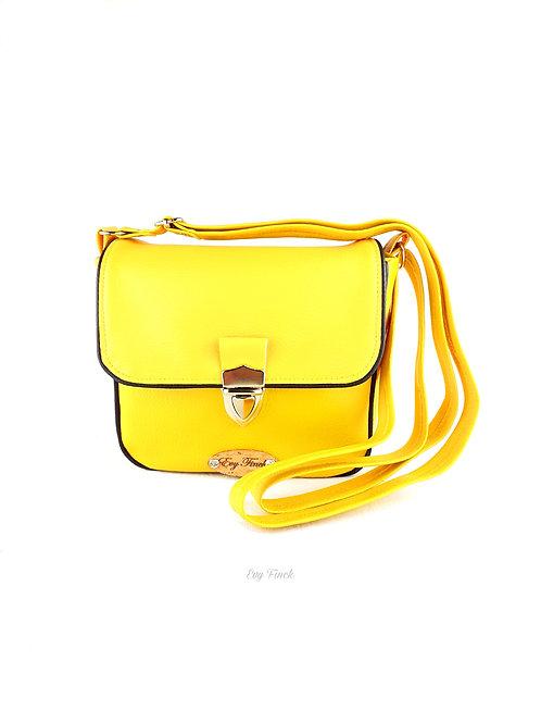 """mini sac à main bandoulière """"arc en ciel"""" jaune"""