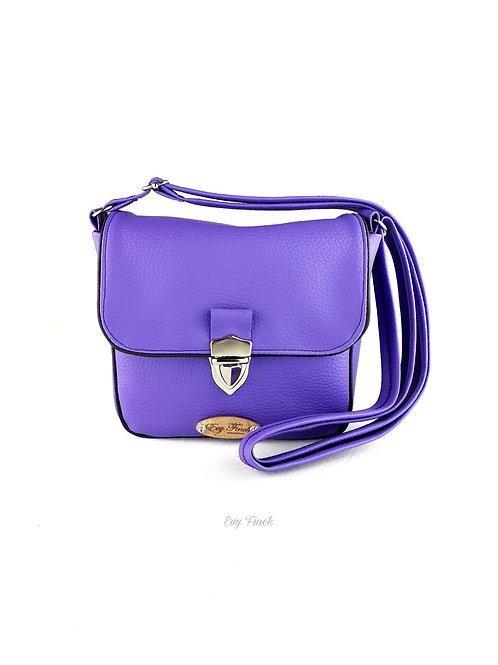 """mini sac à main bandoulière """"arc en ciel"""" violet"""