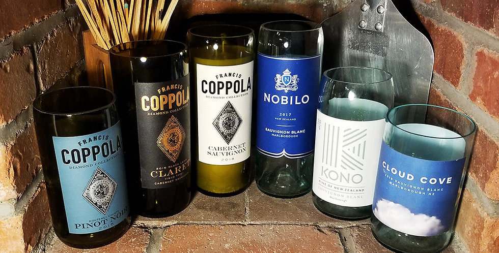 Classy Soy Candles in Upcycled Wine Bottles
