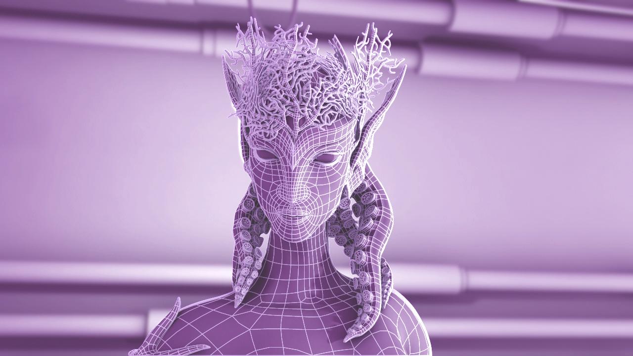"""3D CREATURE """"MERMAID"""" BREAKDOWN"""