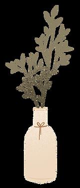 eucalyptus in vase cartoon