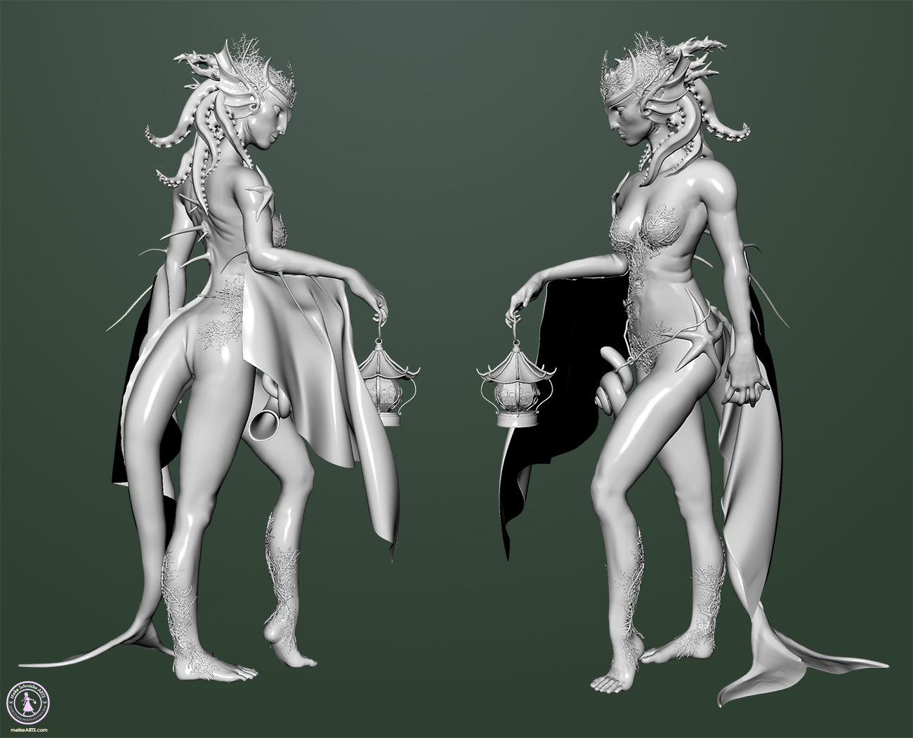 "3D CREATURE ""MERMAID"" BREAKDOWN"