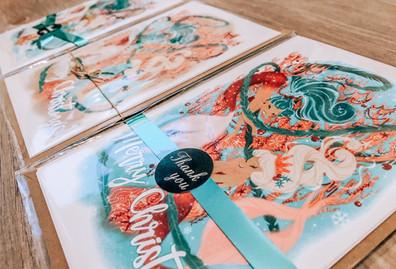 Mermaid Christmas Cards