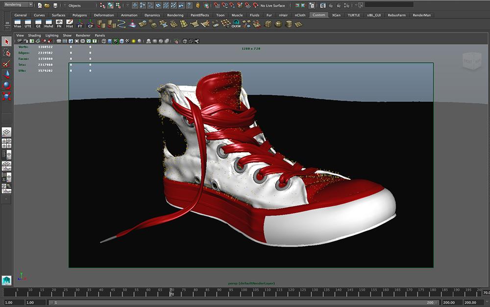 3D CONVERSE SHOE BREAKDOWN