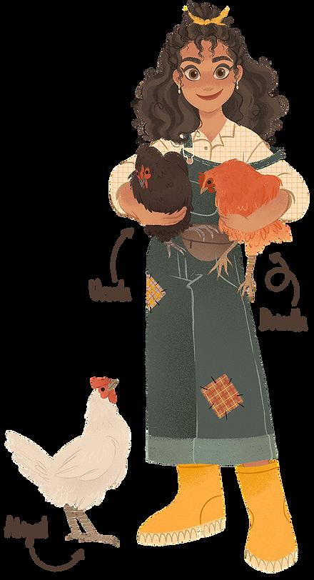 meikearts meike schneider with chickens drizella ursula and abigail