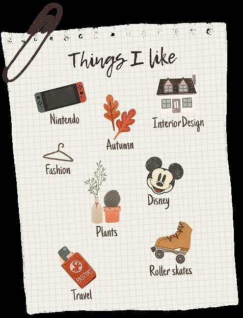 list things i like