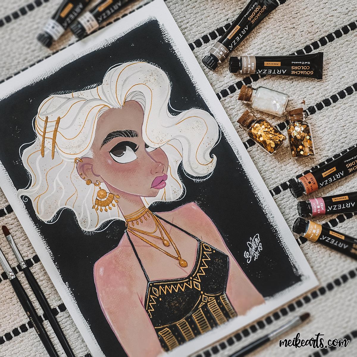 Golden Vintage Girl