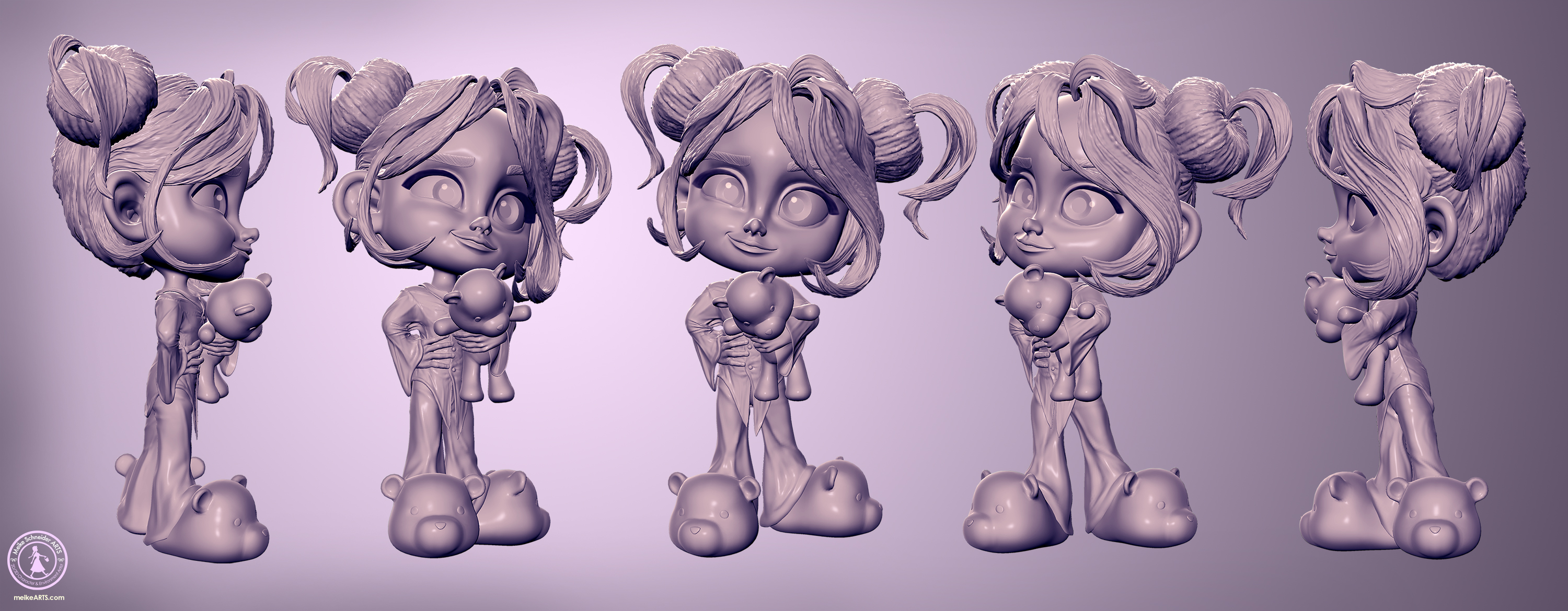 "3D CHARACTER ""LITTLE MARY"""