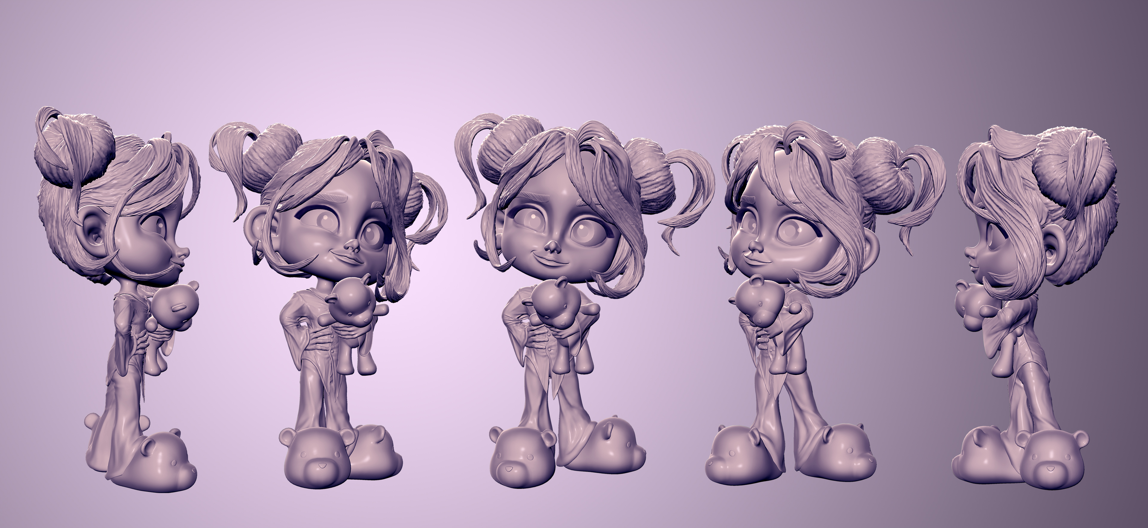 3D CHARACTER LITTLE MARY