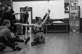 Holly Henry in Fame rehearsals