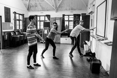 Jacob, Anna and Will in Cats Rehearsals