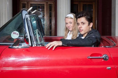 Hannah Lawson and Dom Sutton in Grease
