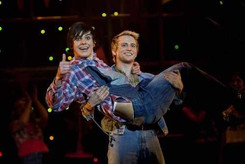 Joel Harper-Jackson and Louis Davies in Footloose