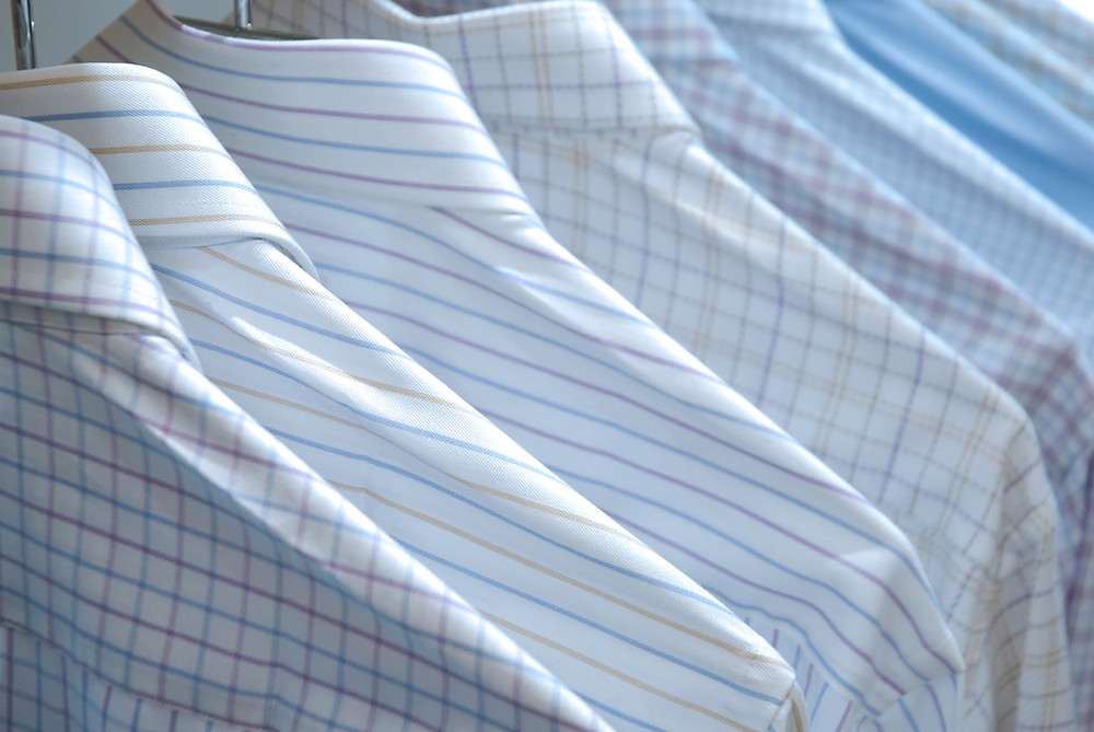 Colvin Best Dry Cleaner Near Me - Pressed Shirts in a Row