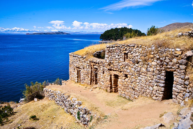 Views from Isla del Sol on the Titicaca