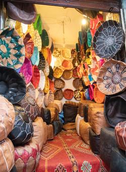 Medina, Marrakech, Leathewr cusions cove