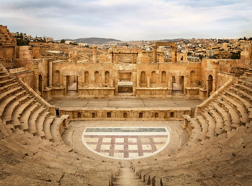 North theater in Jerash, Jordan.jpg