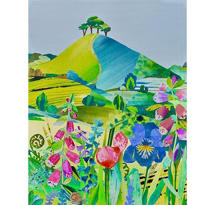 A4 Giclee print Iris, Colmer's Hill