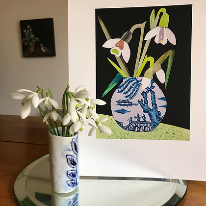 Snowdrops - Limited Edition  A4 Giclee Print