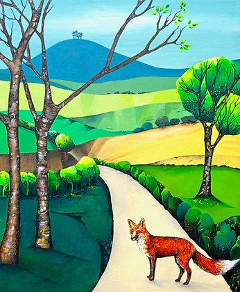 Fox, Colmer's Hill  A3 Giclee Print