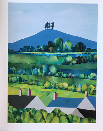 A3 Giclee Print  Early evening, Colmer's Hill