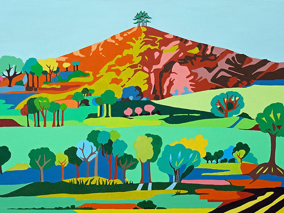 Blue Tree, Colmer's Hill  A3 Giclee Print