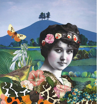 Tiger Moths, Colmer's Hill   A3 Giclee Print