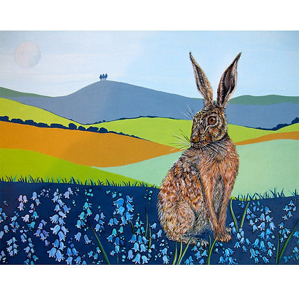 A4 Giclee print     Hare, Colmer's Hill