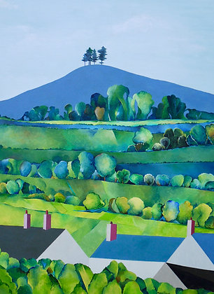 Early Evening, Colmer's Hill Greetings card