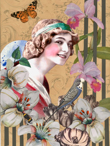 Girl with a budgie