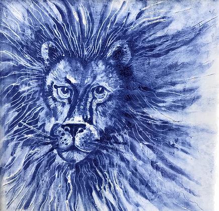 Leo the lion Ceramic Tile  6 inch.