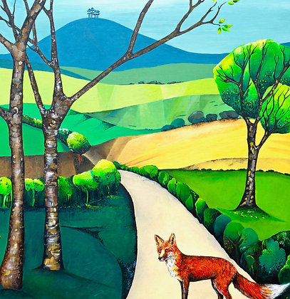 Fox, Colmer's Hill Greetings card