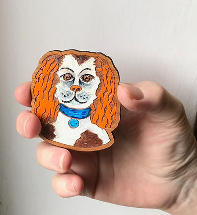 King Charles Spaniel Brooch