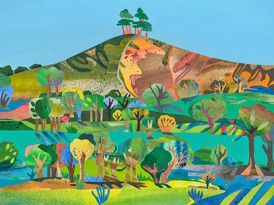 A4 Giclee print -Autumn, Colmer's Hill
